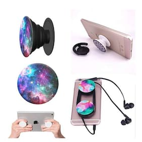 Pack of 2 pcs. Pop socket Fashion Phone Holder Expanding Stand and Grip Pop Socket Mount for Smartphones and Tablet (Assorted Colors )