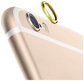 (Pack of 5) Camera Lens Protection Ring Gold Color For Apple Iphone 6S