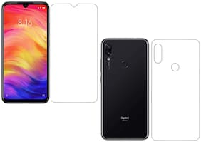 Parshu Front & Back Fiber Film Flexible Screen Protector .{Not a Tempered Glass} Screen Guard for Redmi note 7