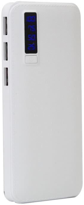 PB-Hefty AJ Leather 10000 mAh Power Bank - White