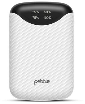 Pebble PPC100BUC(N) PICO 10000mAH Smallest Power Bank (White)