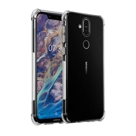 Perfect Fitting Hybrid [Bumper] Edge to Edge Side Protection Transparent Back Cover for Nokia 8.1