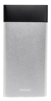 Philips DLP10006 10000mAh Power Bank With Lithium Polymer Battery (Silver)