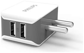 Philips DLP2502/94 Ultra Fast 3.1A / 15.5W Dual USB Wall Charger White