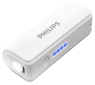 Philips 2600 mAh Power Bank - White