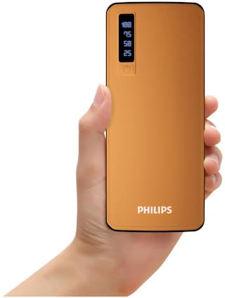 Philips DLP6006N 11000mAh Power Bank With Lithium Ion Battery (Brown)