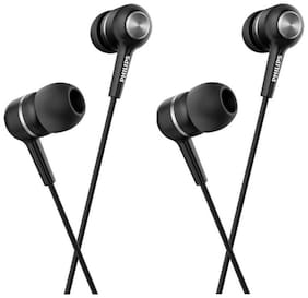 Philips She1505 Pack Of 2 In-ear Wired Headphone ( Black )