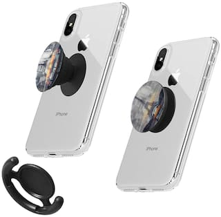 Pisces op Extender and Stand Grip 3D Socket Mobile Phone Holder (Multi)