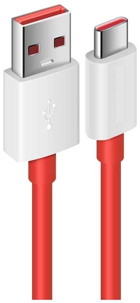 PLATINA USB C Cable Fast Charging Data Cable 2.4 A Output High Speed Sync for Android Phones Data & Charging Type-C Cable ( 1 m , Red )