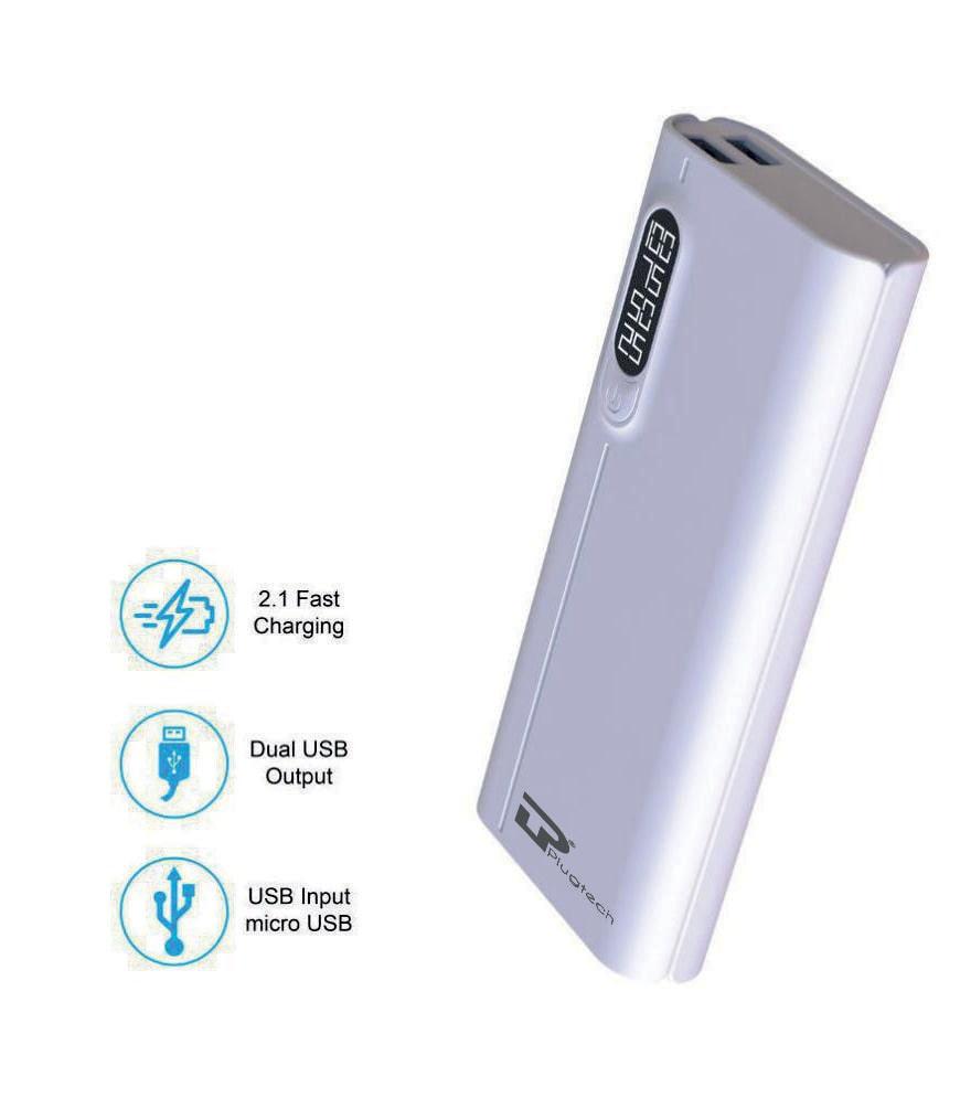 Tp PB P1 10000 mAh Portable Power Bank   White