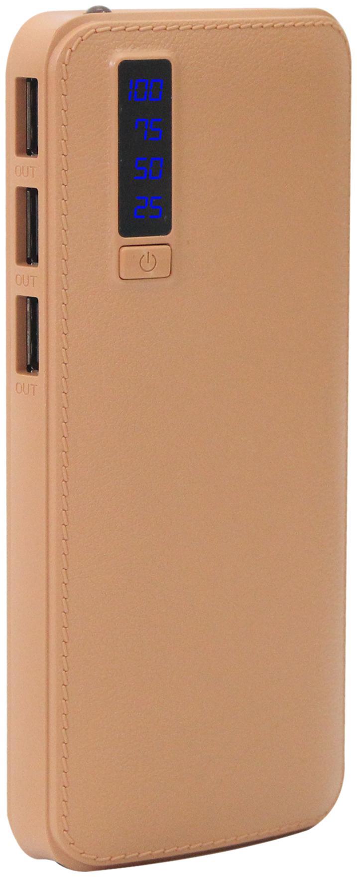 POMICS Aj Leather 15000 mAh Power Bank - Brown