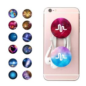 PopSockets Ring Holder with Mobile Hanger With Car Mount For Mobile Phone - Assorted Color and Design (2pc)