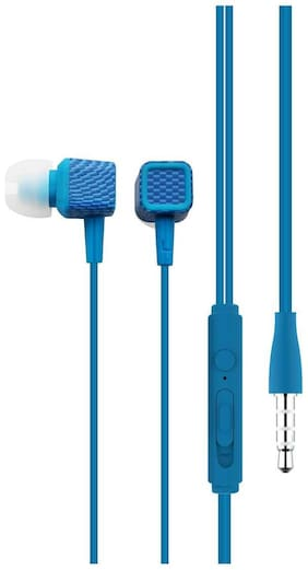Portronics Conch 206 In-ear Wired Headphone ( Blue )