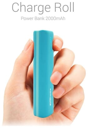 Portronics Charge Roll 2000 mAh Power Bank - Blue