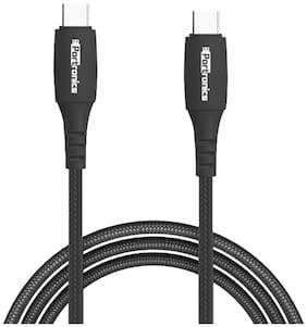 Portronics POR 1173 Data & Charging Type-C to Type -C Cable ( 1 m , Black )