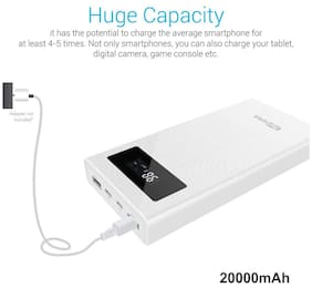 Portronics Jumbo 20000 Mah Li-polymer Power Bank ( White )