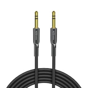 Portronics POR-061 Konnect AUX II High Quality AUX Cable (Black)