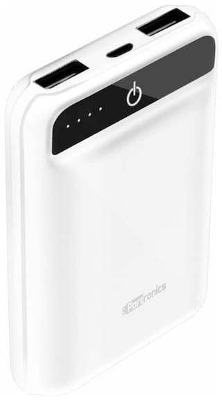 Portronics POR-944 Mino Power 10000mAh Dual Output Power Bank (White)