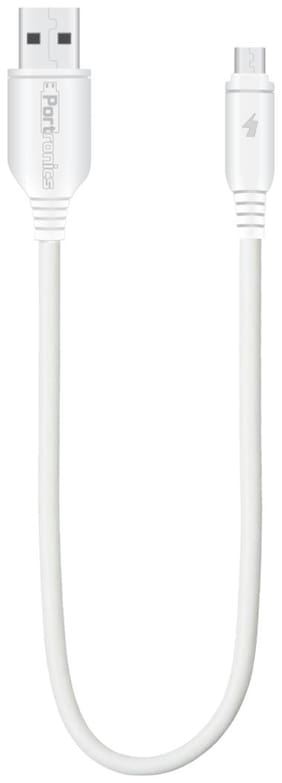 Portronics Data cable & Sync & charge cable - White