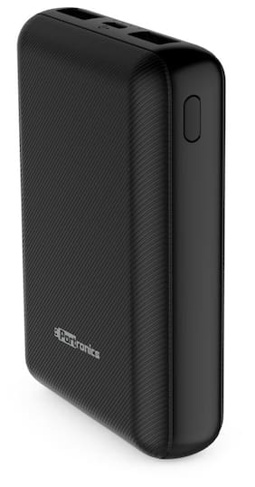 Portronics 10000 mAh Portable Power Bank - Black