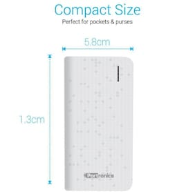 Portronics POR-491 Power Slice II 4000mAh Portable Power bank - White