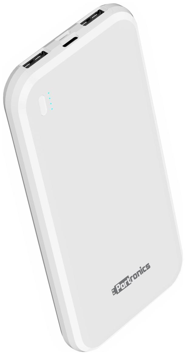 Portronics 10000 mAh Portable Power Bank   White
