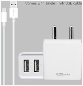 Portronics Wall Charger - 2 USB Ports