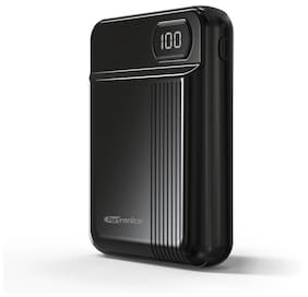Portronics POR-235 INDO 10D 10,000 mAh Power Bank with Display (Black)