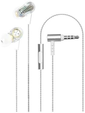 Portronics POR-886 Conch 208 In-Ear Wired Headphone ( White )