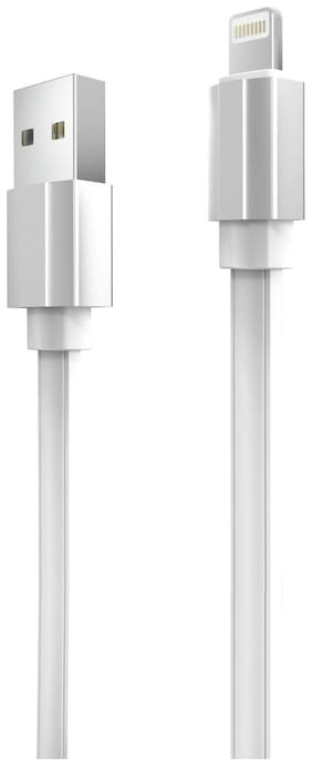 Portronics Charging & data sync cable & Lightning cable - 1 , White