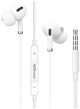 Portronics Conch Delta POR 1146 Conch Delta In-Ear Wired Headphone ( White )