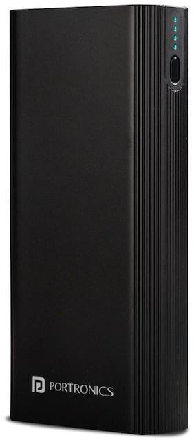 Portronics Power M 20K POR-1224 20000 mAh  Power Bank - Black