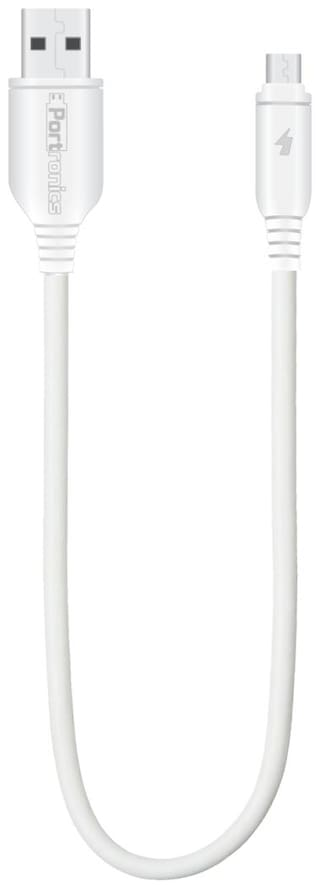 Portronics Data & Charging Micro USB Cable ( 0.2-0.5m , White )