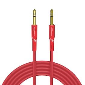 Portronics POR-064 Konnect AUX II High Quality AUX Cable (Red)