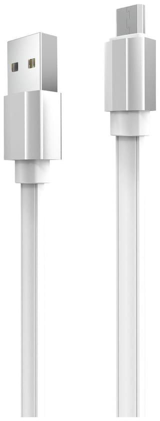 Portronics POR-434 Data & Charging Micro USB Cable ( 1 mtr , White )