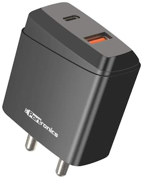 Portronics POR-1022 Wall Charger - 2 USB Ports