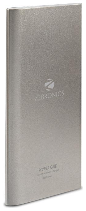 Zebronics 8000 mAh Power Bank   Silver