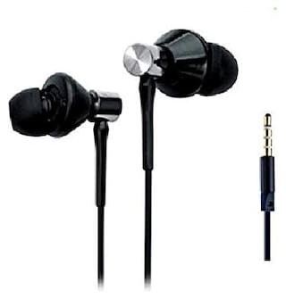 SELLORIA SELLORIA, Powerful Bass Earphones Headphones for Redmi Note 7, Redmi Note 7 Pro, Samsung Galaxy A50, A30, Oppo In-Ear Wired Headphone ( Black )