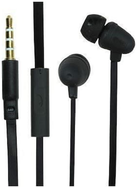 SELLORIA , Powerful Bass Earphones Headphones for Redmi Note 7, Redmi Note 7 Pro, Samsung Galaxy A50, A30, Oppo In-Ear Wired Headphone ( Black )