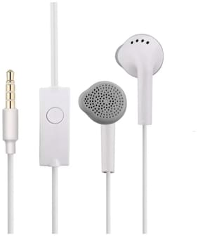 PRADIV TRENDING COLLECTION OF WIRED EARPHONES WITH MIC & HIGH BASS QUALITY EARPHONE In-ear Wired Headphone ( White )