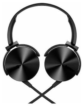 PRANSHU SHOPPE Over-Ear Wired Headphone ( Black )
