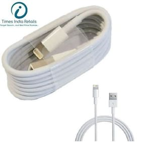 Premium Quality DATA SYNC & CHARGING CABLE FOR APPLE I PHONE (WHITE)