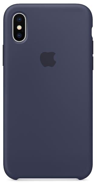 sneakers for cheap b200d 88ecd Premium Silicone Case for Apple iPhone X Midnight Blue