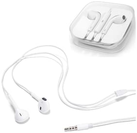 Beat Buff High Quality Super Bass Original Ergonomic Design In-Ear Wired Headphone ( White )
