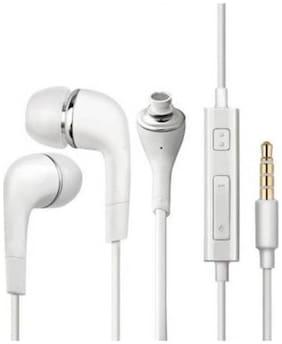 Beat Buff Premium Quality Original Samsg YR In-Ear Wired Headphone ( White )