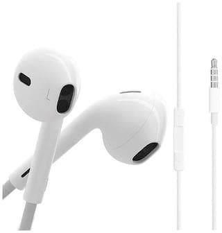 Beat Buff Premium Quality Original Ergonomic Design In-Ear Wired Headphone ( White )