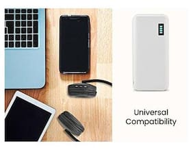 Probeatz 15000 mAh Power Bank (P-1133) (Lithium-ion) Made In India portable Charger Universal Fast Battery Power Bank (White)