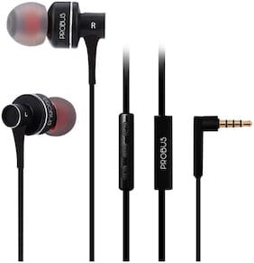 Probus In Ear Wired Headphone For All Smartphones (Black)