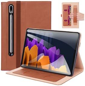 ProElite Flip Cover For Samsung Galaxy Tab S7 Plus Brown