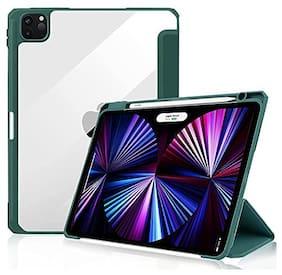 Apple iPad Pro (3rd Generation) & Apple iPad Pro 11 inch Rubber Flip Cover By ProElite ( Green )